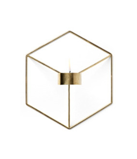 Candle Holder Wall - Brass